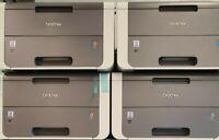 4x Brother HL-3142CW Drucker ohne Trommel Toner Transfer. Resttoner Ersatzteile