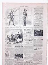 Harper's Weekly Page Civil War Jim Crow Rebel Cartoon Soldier Pocket Watches1863