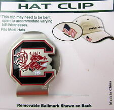 PAC Golf Hatclip w/ Ballmark Ball MarkBallmarker NCAA SOUTH CAROLINA GAMECOCKS