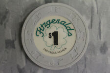 Fitzgerald LUCKY IRISH CLOVER Las Vegas, Nevada $1 Casino Poker Chip Paulson NEW