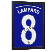 Frank Lampard Chelsea signed autograph printed on CANVAS 100% cotton Framed