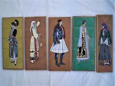 Greek Tile Art Traditional Costumes Studio Art Ceramic Decor, Women,Tsakirakis.