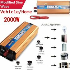 2000W/4000 Watt Peak Power Inverter DC 12V to AC 220V for Car Truck RV Pickup