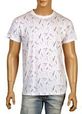NEW DIOR HOMME WHITE COTTON SCRIBBLE DESIGN CURRENT SHIRT T-SHIRT XL
