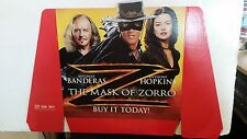 MASK OF ZORRO VIDEO STORE DISPLAY ANTONIO BANDERAS ANTHONY HOPKINS ZETA JONES