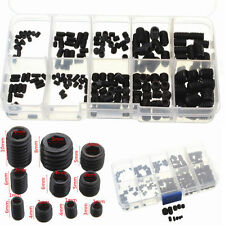 200pcs Black Allen Head Socket Hex Set Grub Screw Cup Point Assortment Kit Steel