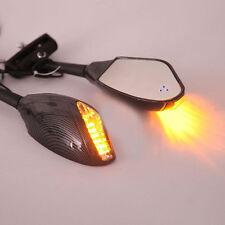 Carbon LED Turn Signals Integrated Mirrors for Kawasaki Ninja ZX6R 636 ZX10R