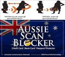 4 X RFID BLOCKING CARDS - AUSSIE SCAN BLOCKER - Protect Credit Card Skims