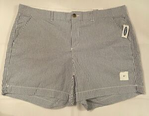 """Old Navy Everyday Short Mid Rise 5"""" Inseam Women's Size 18 Striped Shorts New"""