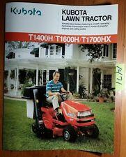 Kubota T1400H T1600H T1700HX Lawn Tractor Brochure 2089-01-CA 7/94