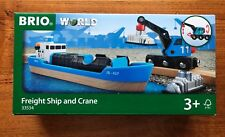 BRIO 33534 Freight Ship and Crane kids toys. Brand new. Free Post with tracking