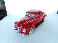 1940 FORD DELUXE COUPE RARE! 1:24 Red DIE CAST CAR 1993 Danbury M Ohne ovp