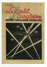 Carte Postale Tintin. Le Petit Vingtième n°37 de 1938. DCA et projecteurs. F/46