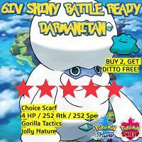Darmanitan 6IV SHINY Pokemon Sword and Shield   BATTLE READY   + 6IV Ditto offer