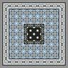 Musterpaket Zementfliesen Boden Wand - Jugendstil Fliese Dekor Iraquia 1439