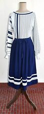 Vintage 60's LEON CUTLER 'Verona Knits' Navy & White Dress