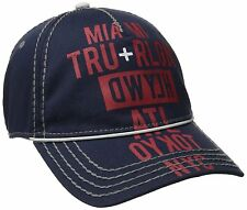 NEW TRUE RELIGION MEN'S CLASSIC BASEBALL TRUCKER HAT CAP TOUR CITIES NAVY TR1952