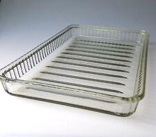 Vintage heavy glass Cold Storage Tray refrigerator chiller ribbed bottom
