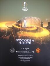 2017 AJAX v MAN MANCHESTER UNITED UTD EUROPA LEAGUE FINAL PROGRAMME FROM GROUND