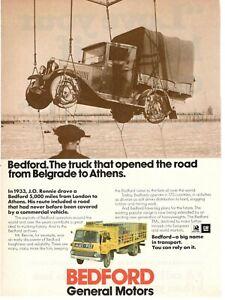 1971 Original Advertising' Vintage Bedford GM General Motors Trucks Modern