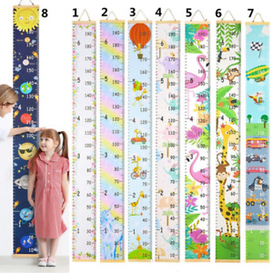 Kids Baby Growth Height Chart Ruler Wall Hanging Measure Child's Bedroom Decor