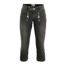 Blumen-Normalgröße Damen-Jeans mit Stickerei