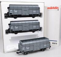 3-tlg Märklin 85875 Wagen-Set Ruhrkohle AG der DB / FP / Metall-RS / unbespielt