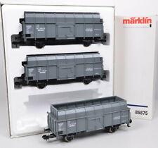 3-tlg Märklin 85875 Juego de Vagones Ruhrkohle Ag DB / Fp / Metall-Rs / No Usado