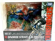 TAKARA TOMY TRANSFORMERS MOVIE THE BEST MB-10 DINORIDE STRAFE & BUMBLEBEE