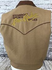 Schaefer Men's Outfitter Pro Rodeo Steamboat Springs 2005 Vest Leather Trim