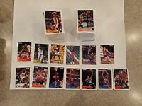 1993-94 Fleer Basketball Lot of 346 Different Cards with Stars and Rookies NM/MT