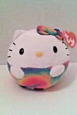 Ty Beanie Ballz Hello Kitty 5 Inch Rainbow Beanbag Plush Stuffed Animal Toy