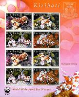 Kiribati 2005 MNH Harlequin Shrimp WWF 8v M/S Shrimps Marine Animals Stamps