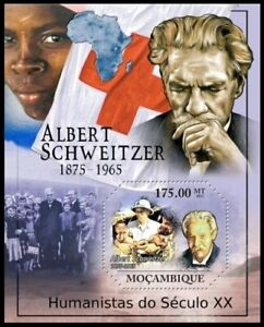 Mozambique MNH 2011 MS, Albert Schweitzer. Red Cross, Nobel Peace winner