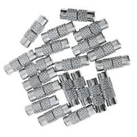 20 X Silver Tone Metal Necklace Bracelet Screw Barrel Clasp Jewelry Making