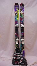 Used JR Nordica Ace of Spades Twin Tip Ski 138cm with Tecnica RJ 23.5 Blk Boots