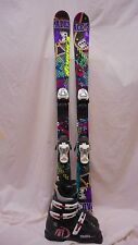 Used JR Nordica Ace of Spades Twin Tip Ski 128cm with Tecnica RJ 21.5 Blk Boots