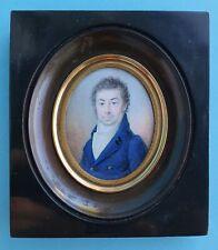 Miniaturmalerei, Miniatur Portrait eines vornehmen Herren, um 1820/40