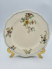 """Vintage Steubenville Ivory Scalloped & Beaded 9"""" Plate Floral Pattern BEAUTIFUL"""