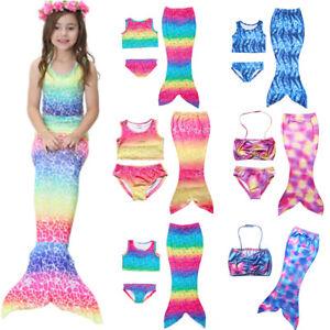 Girls Mermaid Tail Bikini Set Swimwear Kids Swimming Costume Beachwear Swimwear