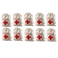 10xCotton Hangover Survival Kit Bag First Aid Bachelorette Hen Stag Party Fa JR
