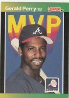 FREE SHIPPING-MINT-1989 Donruss MVP's  Braves  #BC24 Gerald Perry +BONUS CARDS