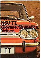 NSU 1200 TT & 1000 TTS 1971-72 marché italien sales brochure