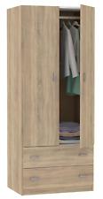 Armario ropero 2 puertas 2 cajones y barra color cambrian dormitorio 74x50x180