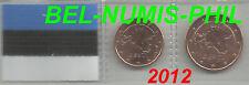 ESTLAND 2012 -  1 en 2 cent uit de rol/du rouleau - UNC!!!