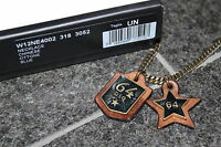 DSQUARED2 F/W 2012 STAR 64 2-TAG NECKLACE KETTE HALSKETTE BAND COLLIER HALSBAND