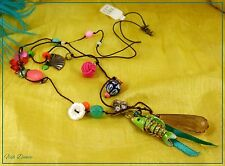 MONSOON ACCESSORIZE BEAD, FISH, BUTTERFLY & FAN CHARM NECKLACE. TICKET PRICE £12