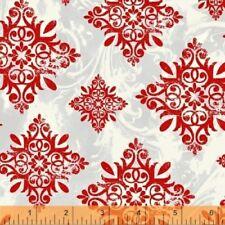 SEASON'S GREETINGS RED SNOWFLAKES FABRIC NO. 15