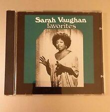 Favorites by Sarah Vaughan (CD) OUT OF PRINT - RARE