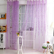 Tree Willow Curtains Blinds Voile Tulle Room Curtain Sheer Panel Drapes Xed